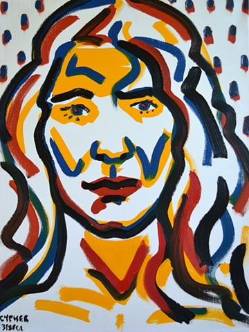 Tribal Woman No. 2, reasonable priced art, value art, David Murphy, Cypher, The Panic Artist