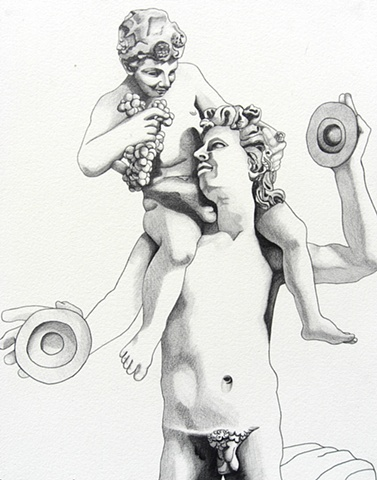 Dionysies and Faun, 1989, david brendan murphy, cypher, the panic artist