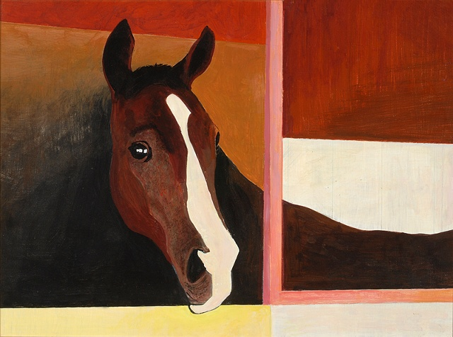 Horse Stall, western art, contemporary,