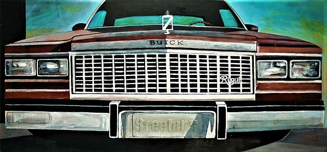 Front Grill Cadillac Painting