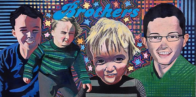 Brothers, portrait art, pop art