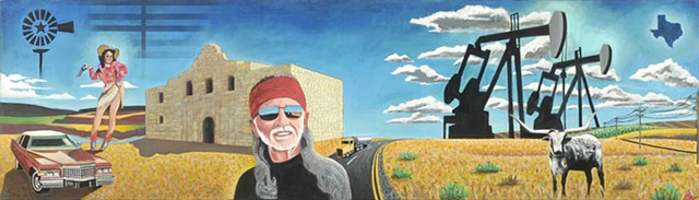 Texas, American icons, Willie nelson, oil,