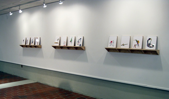 Installation shot from the Curris Center Gallery, Murray State University, 2012.