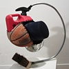 Title/Materials: Top Hat, Basketball, Bucket, Gas Can, Lamp Shade, Brush, Conduit, Zip Ties