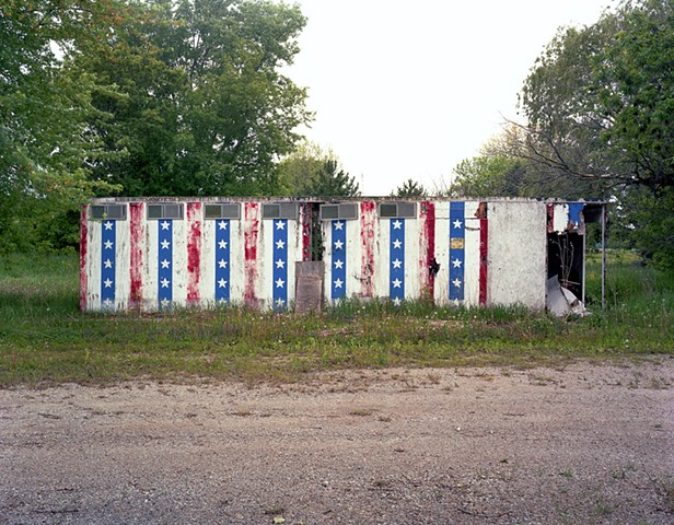 Photograph of old fireworks stand