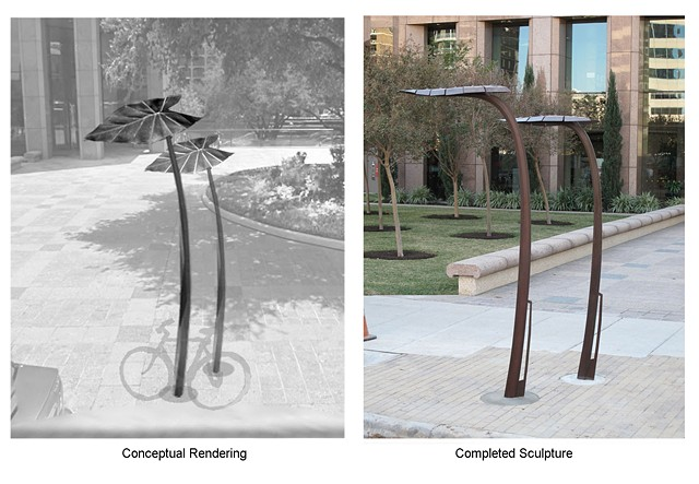 Bike Rack Sculpture on E 2nd at Congress, ATX