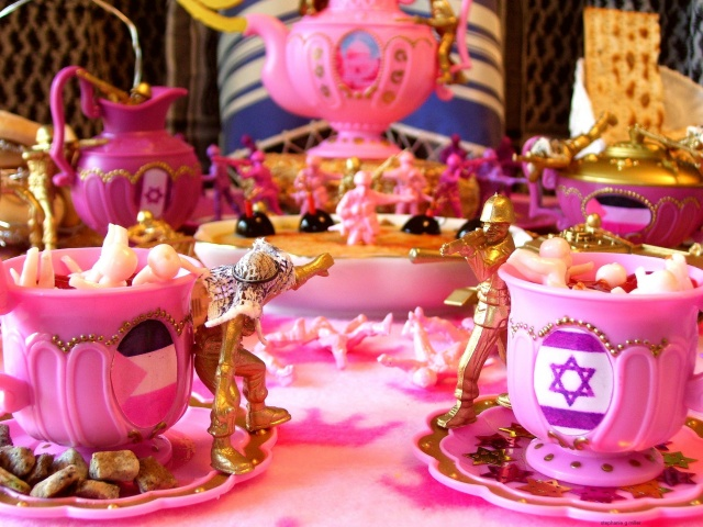 THE  ISRAELI  PALESTINIAN  TEA  PARTY    (TWO CUPS)