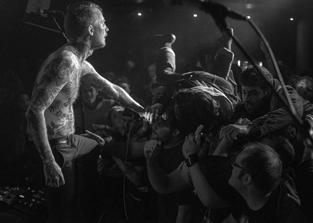 Frank Carter of Frank Carter and the Rattlesnakes at The Studio at Webster Hall, NYC