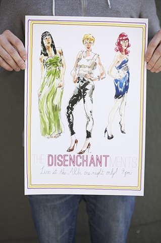 The Disenchantments: Arcata Poster
