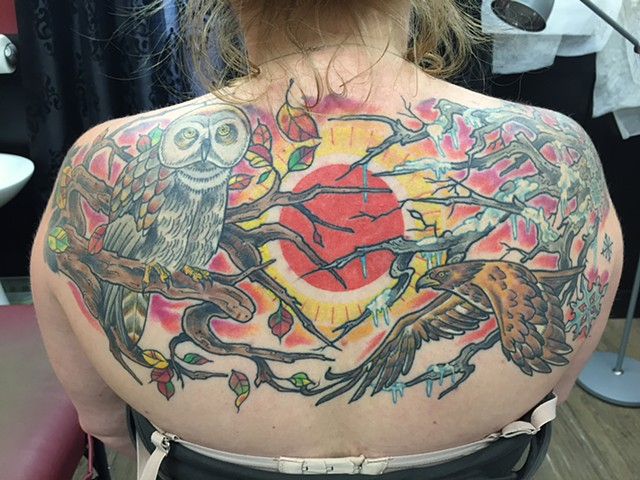 Birds back piece