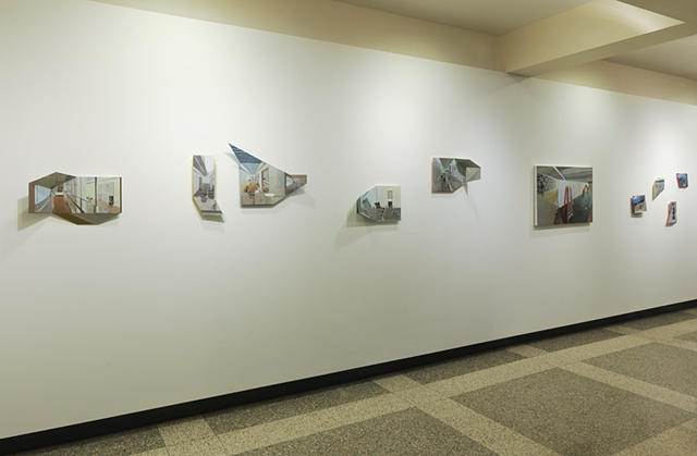 Installation shot of Points of View, Hollister Gallery, Babson College, Wellesley, MA