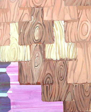 shingles pattern, faux-bois, abstract painting
