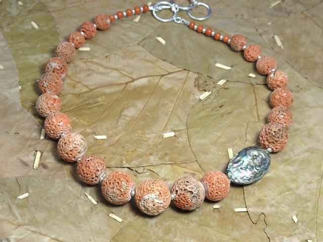 Italian coral, abalone (#682)
