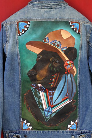 """Navajo Black Bear"" Commission (SOLD)"