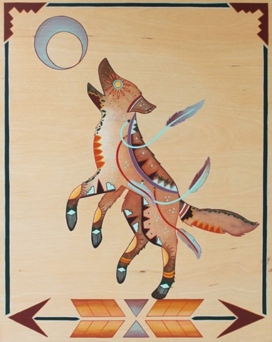 """Coyote Dancing"" (SOLD)"