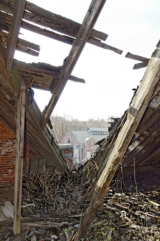 View from Pennhurst building, attic space