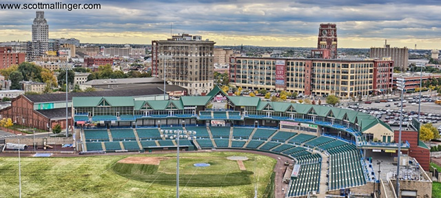 View of Campbell's Field minor league park in Camden, NJ