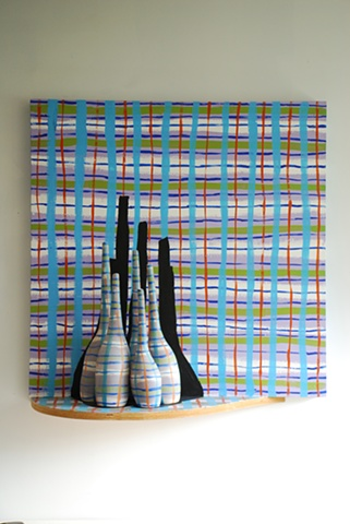 Blue Plaid Committee as Still Life