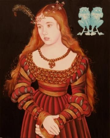 CELIA AS A GERMAN PRINCESS(after Lucas Cranach)