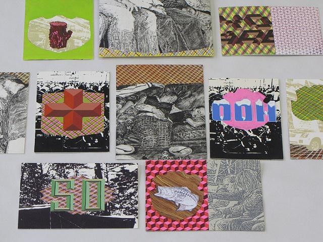 Postcards - print,paint,drawing
