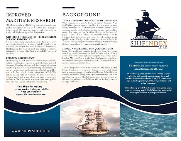 Ship Index - Brochure Front