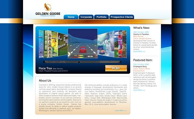 Golden Goose Productions Website