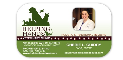 Helping Hands Veterinary Clinic Business Cards