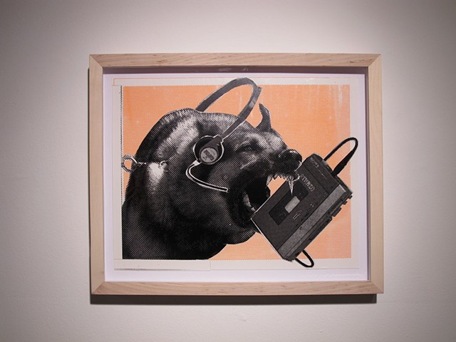 "Christopher Michlig ""German Shepherd Listening to a Sony TPS-L2 (19>9) While Attacking it"" 2014"
