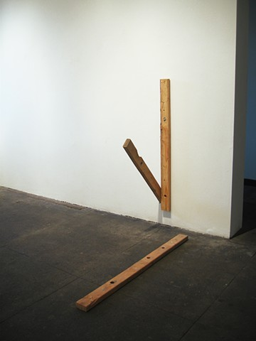 "Untitled (2x4 Sculpture)   ""Stillness"" PØST Los Angeles, CA"