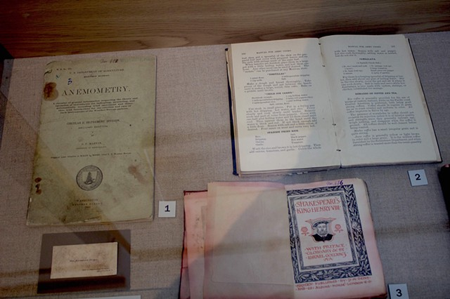 American cookbook, Shakespeare, Anemometry, and Fiala business card