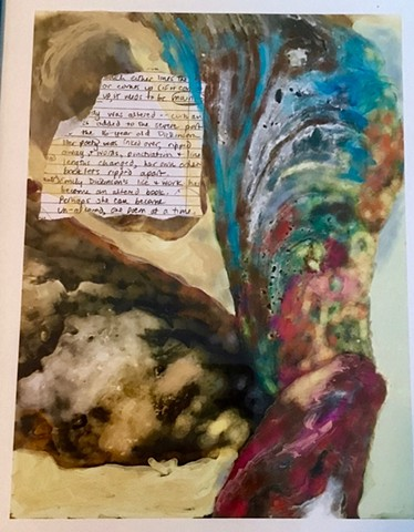 shells and collaged notes by me