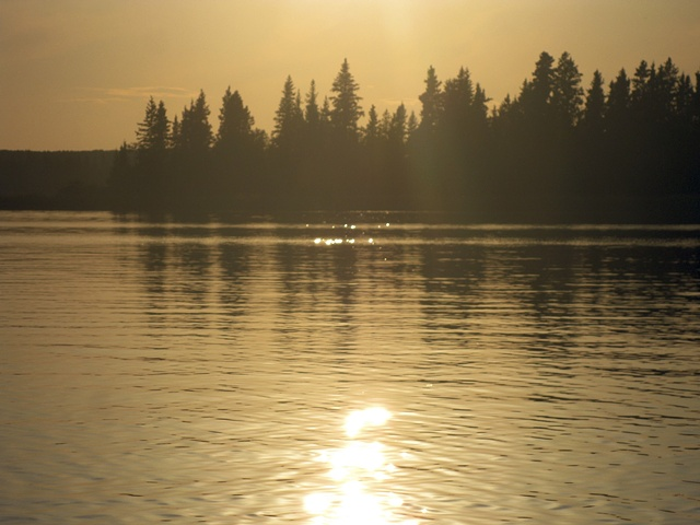 You don't get the feel of the lake unless you canoe in the evening or early morning