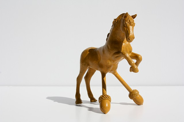 Sculpture of Taxidermy horse by Karley Feaver
