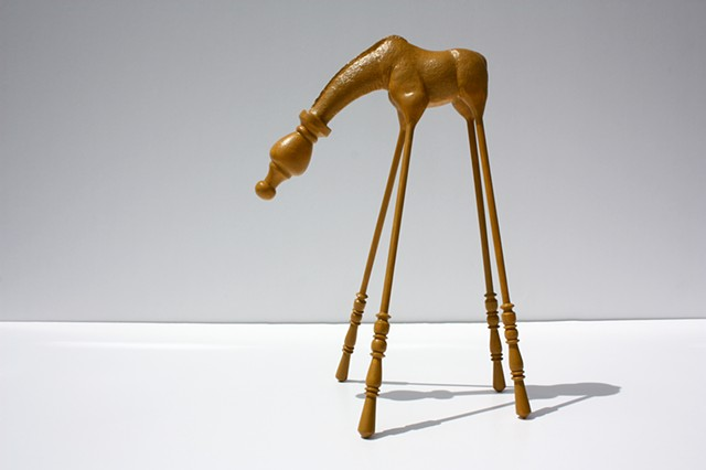 Sculpture of Taxidermy Giraffe by Karley Feaver