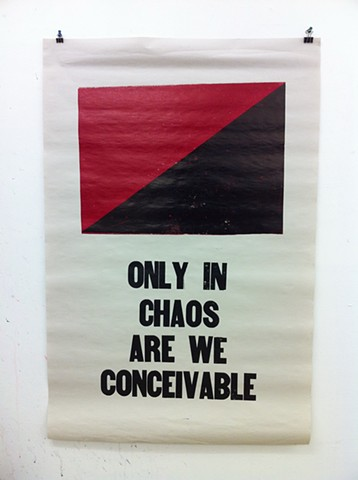 Only in chaos are we conceivable