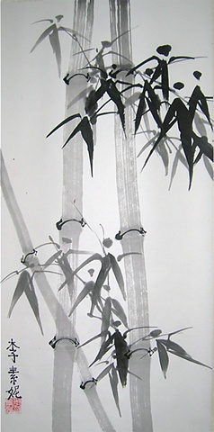 Traditional Chinese bamboo painting