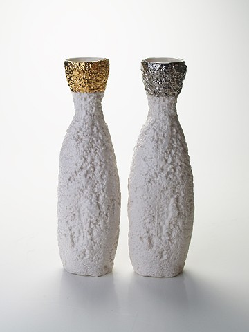 Styro Bottle Vases