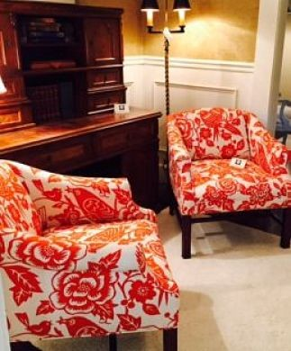 Orange Club Chairs