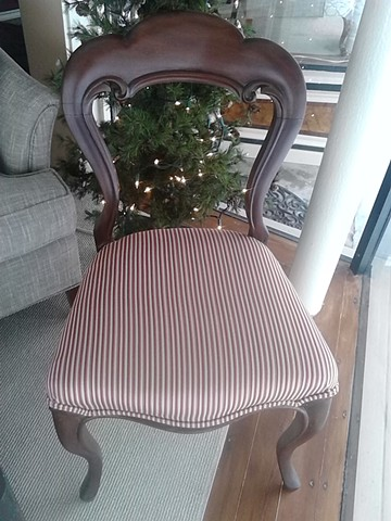 Stripe side chairs