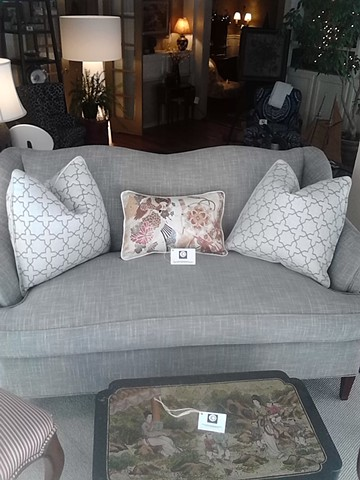 Gray settees