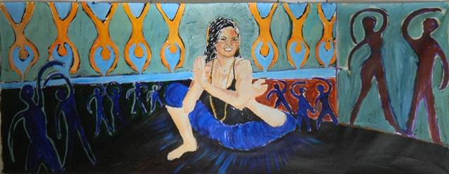 yoga dandasana Dhyana