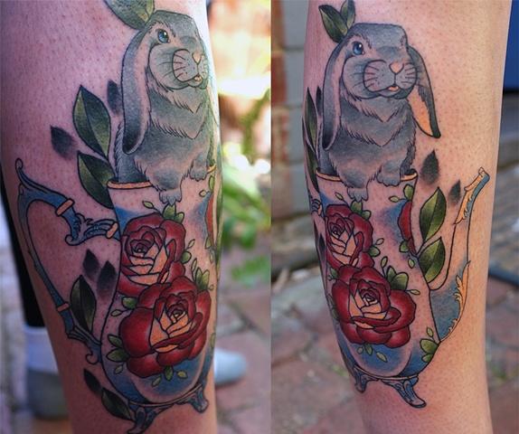 Teapot Bunny by Kitty Dearest