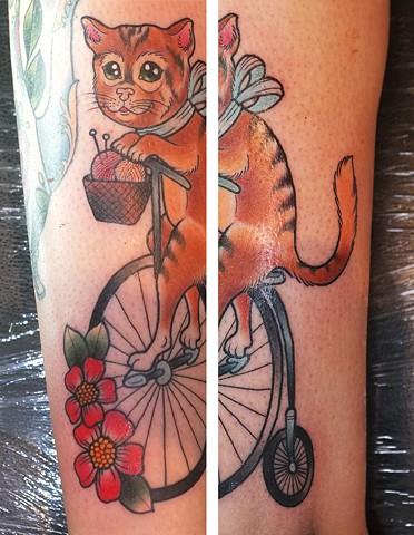 Penny Farthing Cat by Kitty Dearest