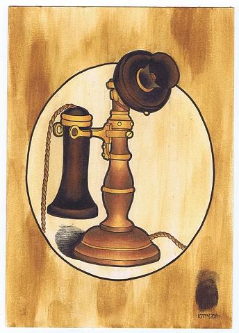 Candlestick Telephone by Kitty Dearest.