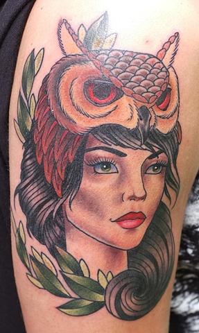 Owlhead Girl by Kitty Dearest