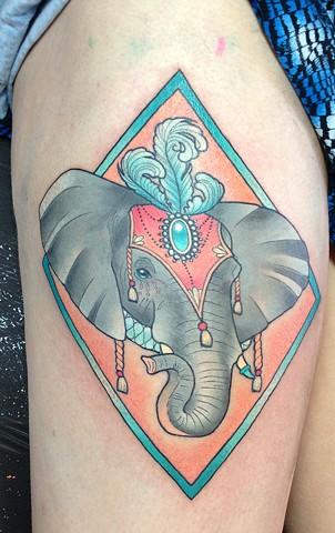 Circus Elephant by Kitty Dearest