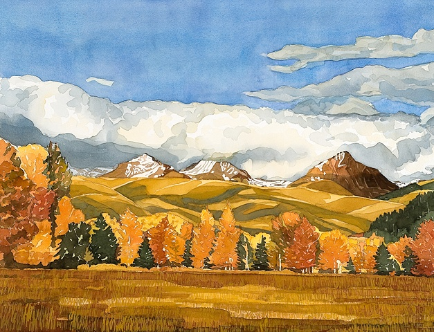 Idaho Landscapes By Sandra Shaw Low Clouds In The Pioneers