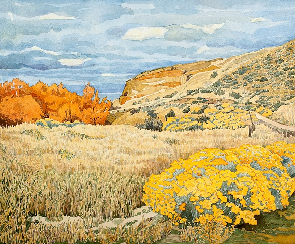 Idaho Landscapes By Sandra Shaw Rabbit Brush At Military