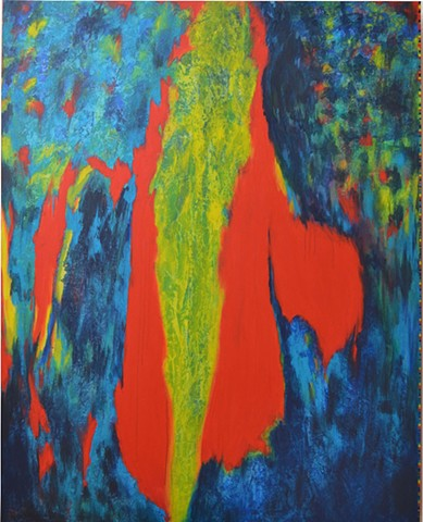 abstract acrylic, bright color palette,primary color scheme