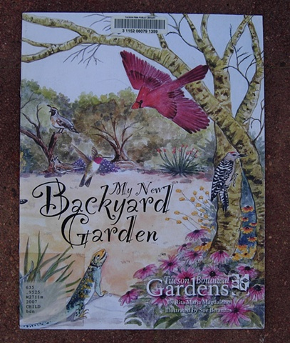 sue betanzos, library, publication, gardening, childrens book, child literature, coloring book, grandparents, wildlife, desert gardening, spanish, bilingual, grandchildren, hummingbird